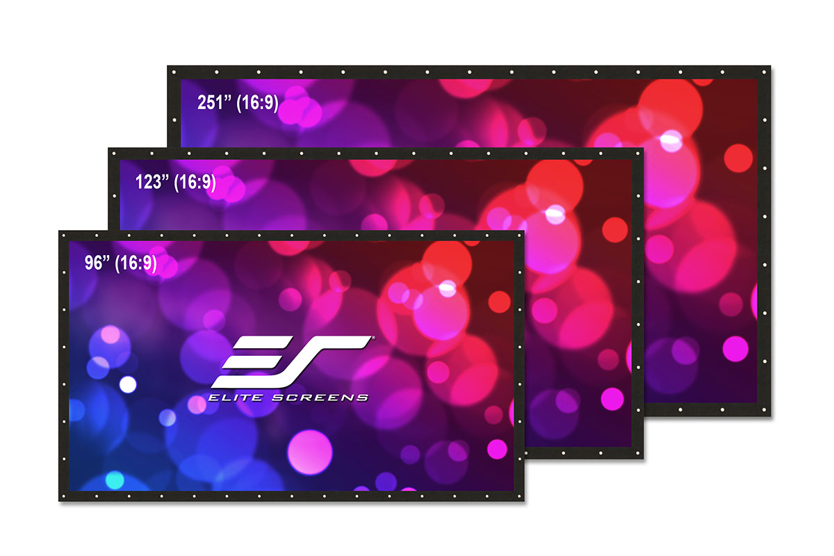 Elite DIY123RH1-DUAL 123in. 16:9 DIY Pro Dual Screen, WraithVeil Dual