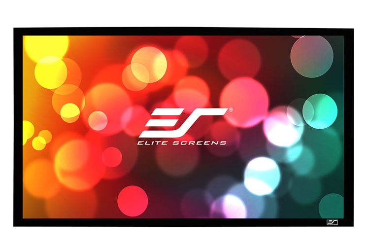 Elite ER85WH1W-A1080P2 85in. 2.35:1 Sable Frame Screen, AcousticPro 1080P2