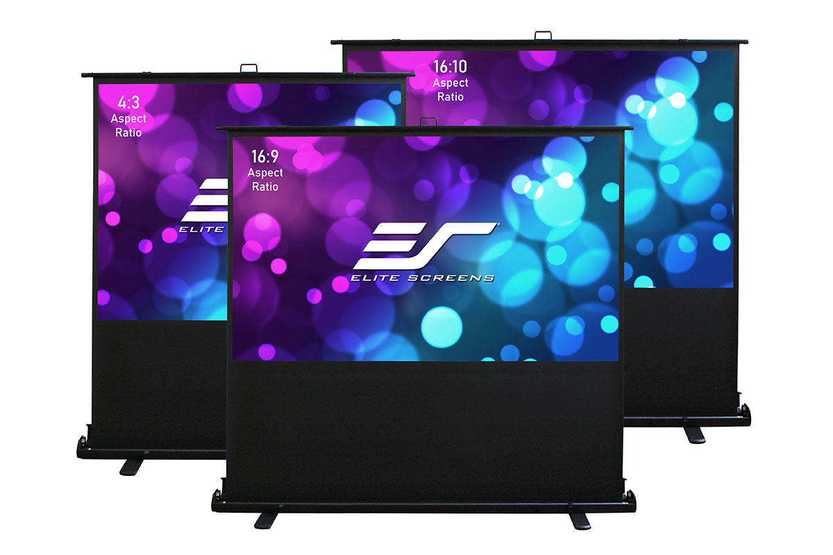 Elite F84XWV2 84in. 4:3 ezCinema 2 Screen, MaxWhite 2