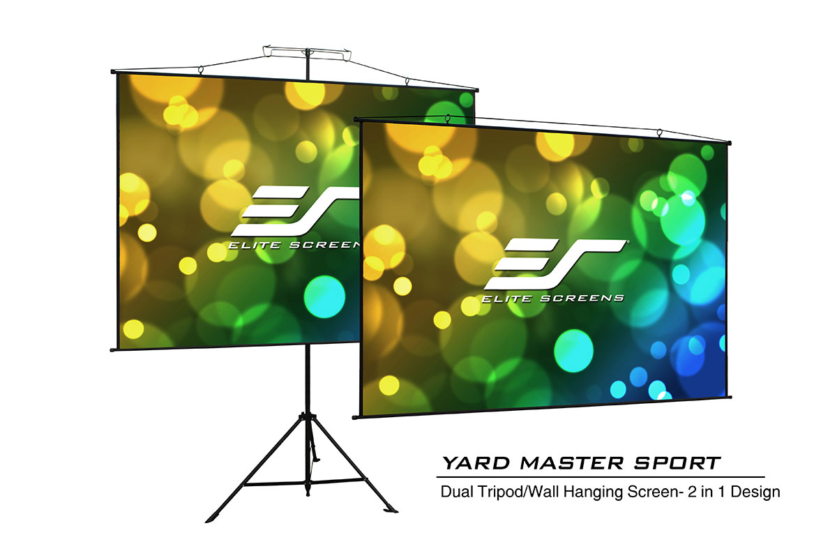 Elite YMS57S 57in. 1:1 Yard Master Sport Screen, MaxWhite