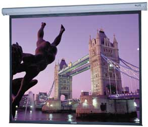 Da-Lite 74659 84in. Cosmopolitan Electrol Motorized Projection Screen 4:3