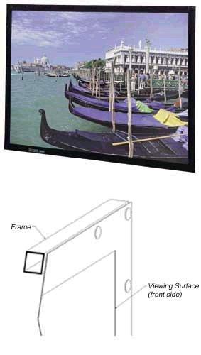 Da-Lite 87703 92in. Diagonal HDTV Format Perm Wall 16:9 Projector Screen