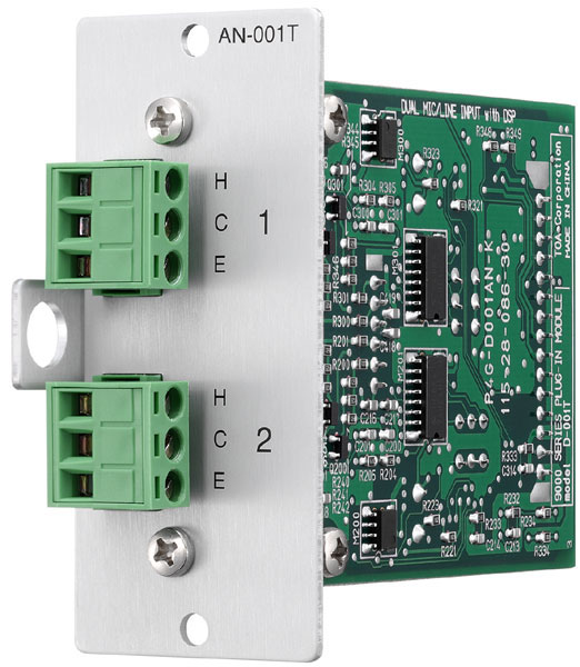 TOA AN-001T 2-channel Ambient Noise Controller Plug-in Module