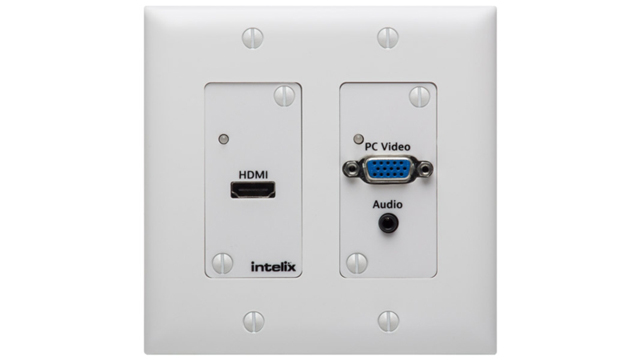 HDMI/VGA Auto-Switching Wallplate with HDBaseT Output