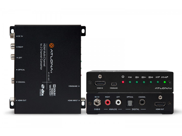 Atlona AT-HD-M2C HDMI Multi-Channel to Two-Channel Audio Converter