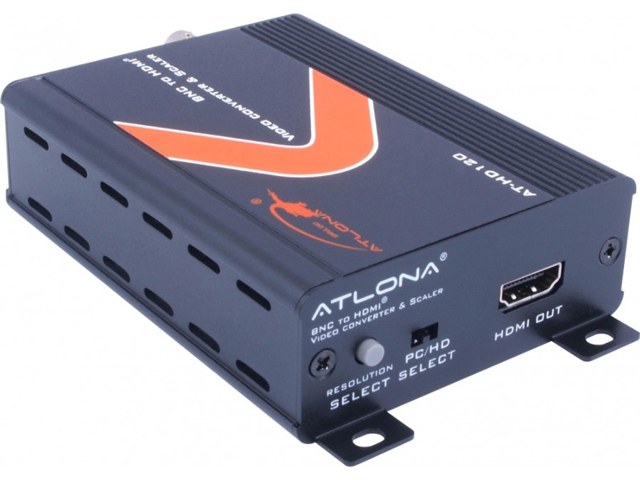 Atlona AT-HD120 Composite Video + Stereo Audio to HDMI Converter & Scaler