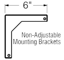 Hamilton Buhl AW6 6in. Wall Bracket for Buhl WS Series Wall Screens