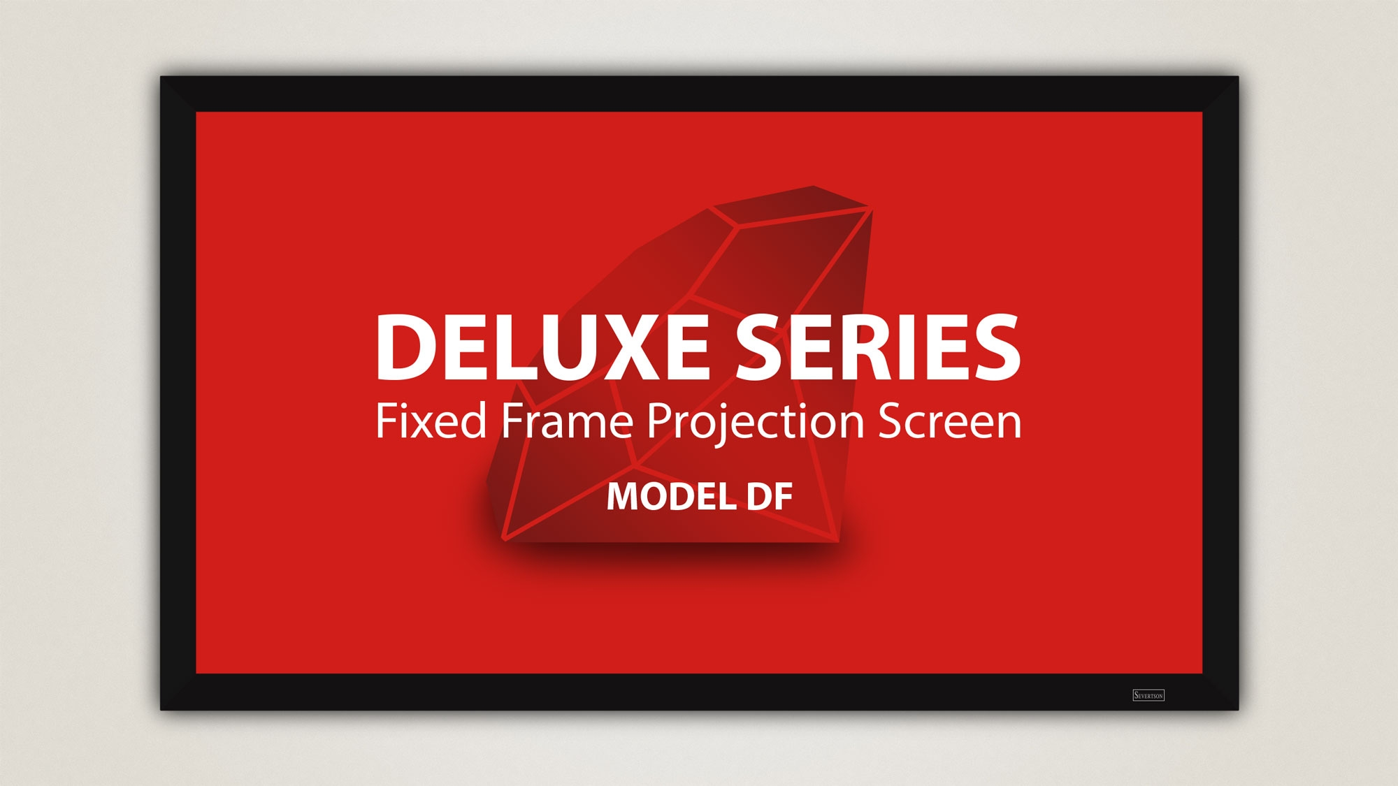 Severtson 189in. 2.35:1 Deluxe Fixed Frame Screen, Stellar White