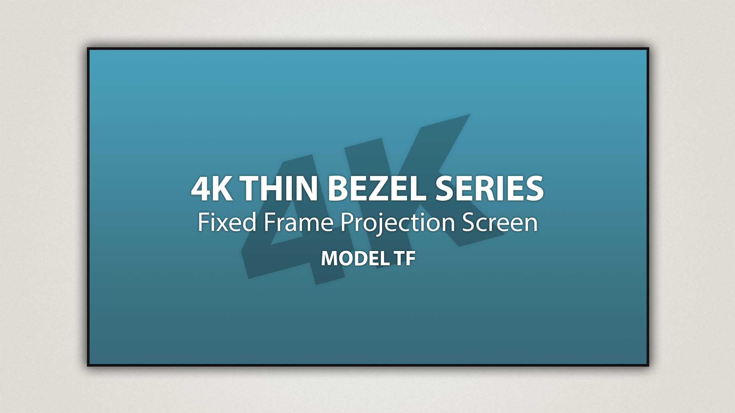 Severtson 189in. 2.35:1 4K Thin-Bezel Fixed Frame Screen, SeVision 3D GX