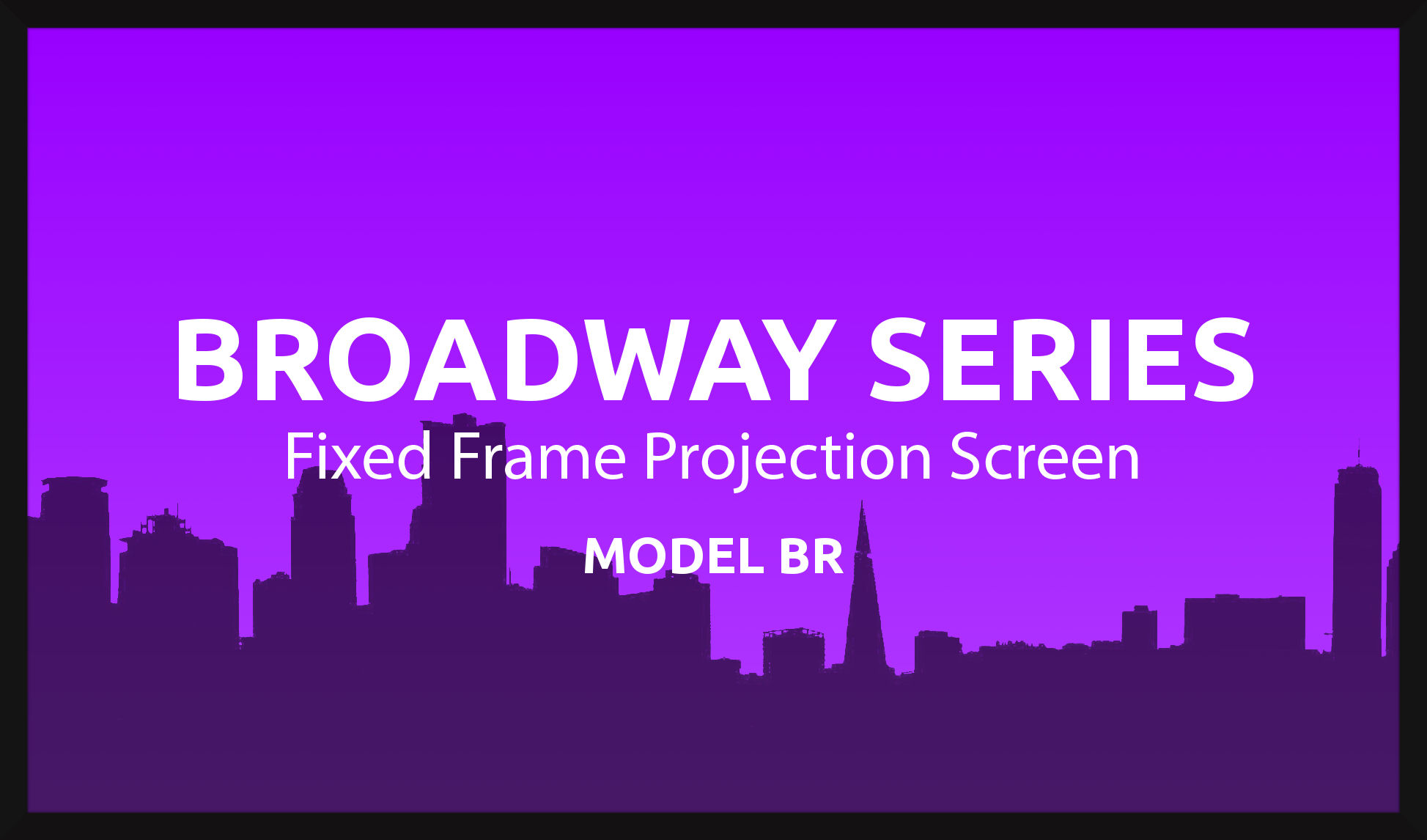Broadway 150in. 16:9 Fixed Frame Screen, Matte White