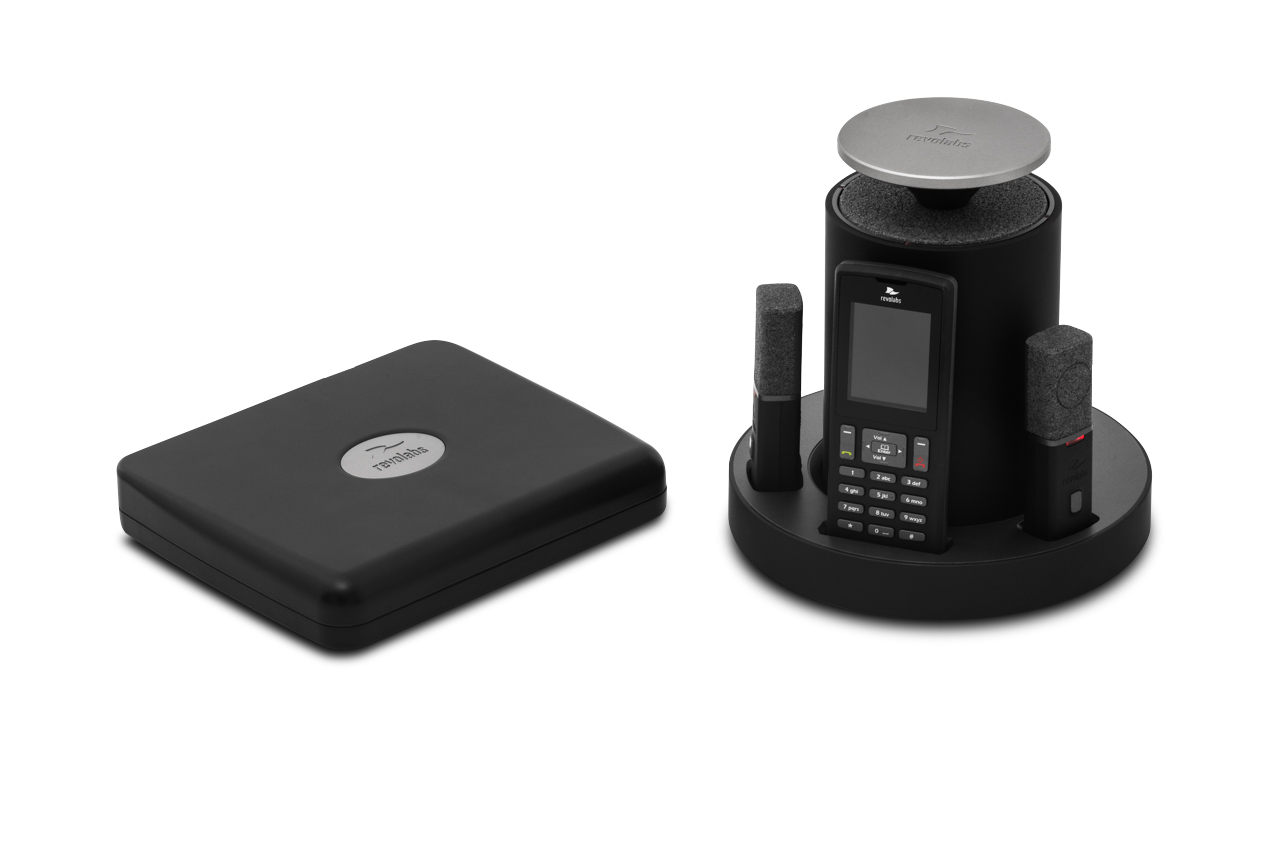 Revolabs Wireless VoIP SIP System w/ 2 Tabletop Mics, 2 Speakers