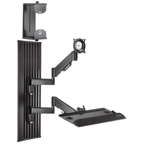 Chief KWT110B All-in-One Monitor Workstation Wall Mount