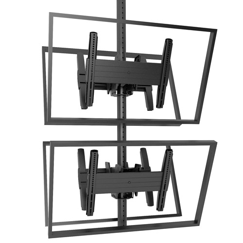 Chief MCB1X2U Fusion Medium Back-to-Back Stacked Ceiling Mounts