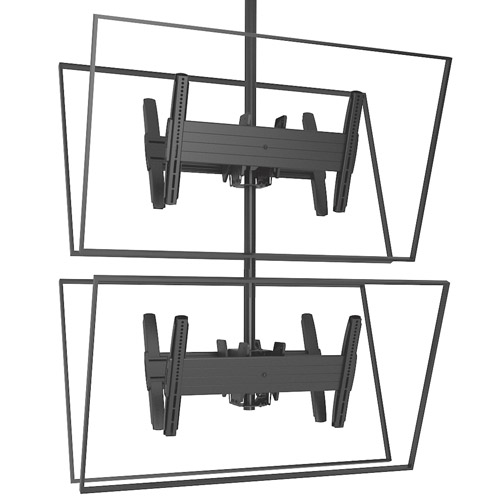 Chief LCB1X2U FUSION Large Back-to-Back Stacked Ceiling Mounts