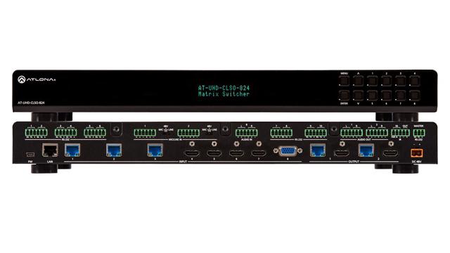Atlona AT-UHD-CLSO-824 4K/UHD 8×2 Matrix Switcher w/ Dual HDBaseT & HDMI