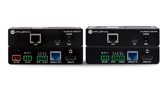 Atlona AT-UHD-EX-100CE-KIT 4K/UHD 328' HDBT Transmitter/Receiver w/ Ethernet