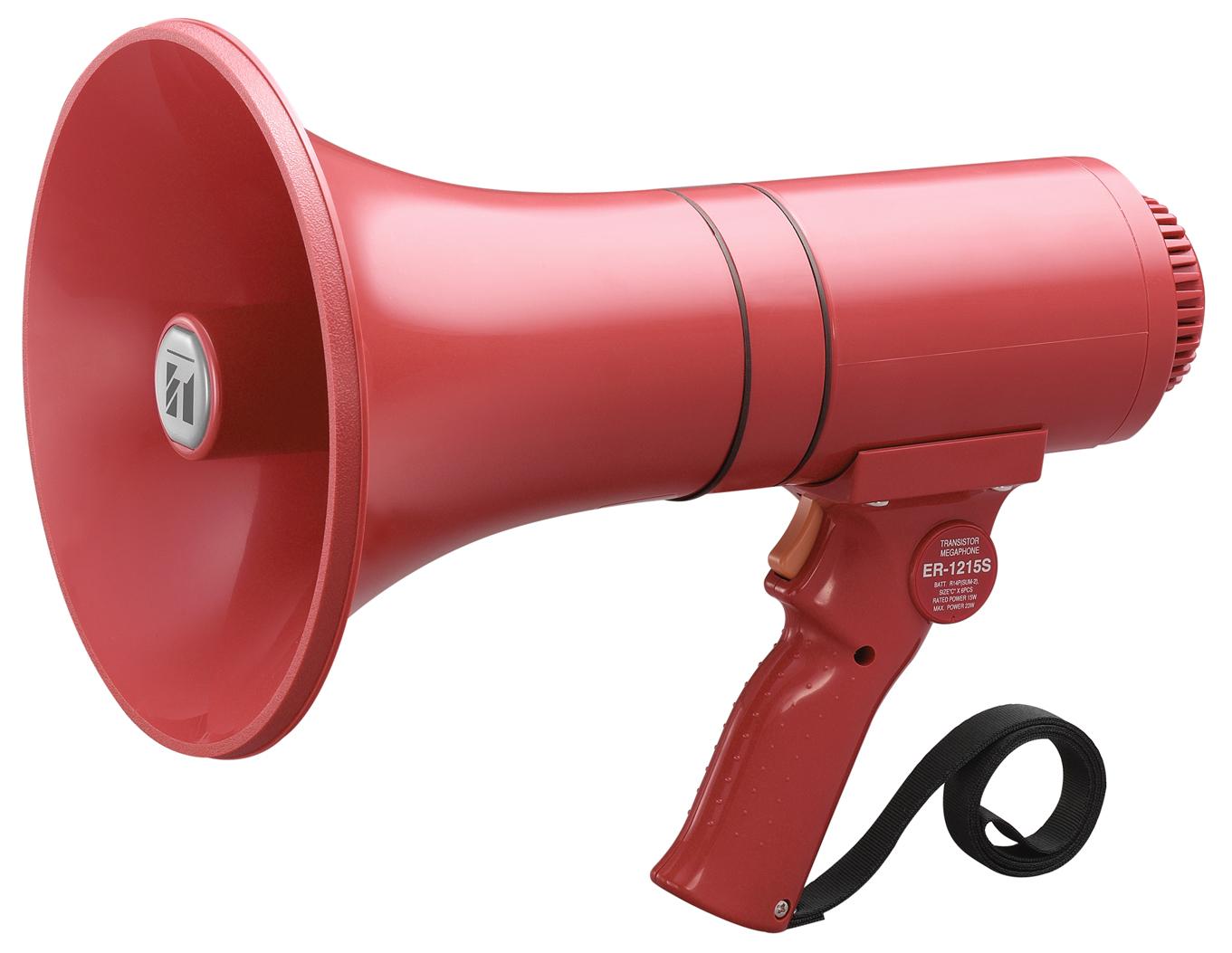 TOA ER-1215S 15W Hand Grip Type Megaphone w/ Siren