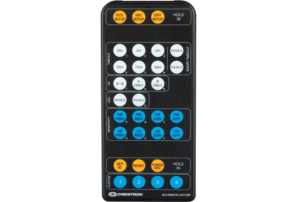Crestron GLS-REMOTE-ODT/OIR IR Remote for Ceiling Mount Occupancy Sensors