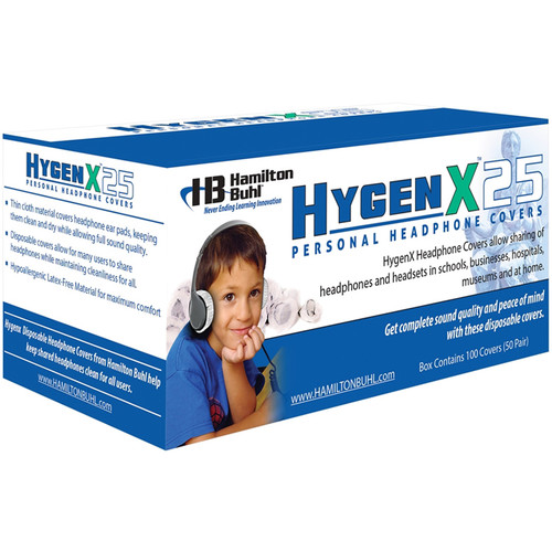 Hamilton HygenXWR25BL Disposable Ear Cup Covers, Blue, 2.5in. - 600 Pairs