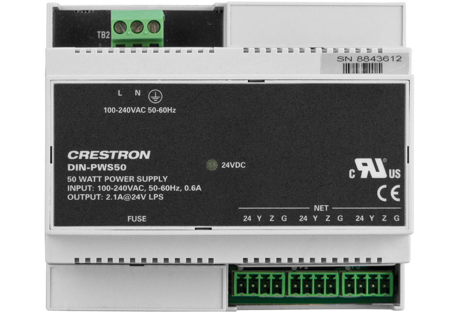 Crestron DIN-PWS50 DIN Rail 50 Watt Cresnet Power Supply Module