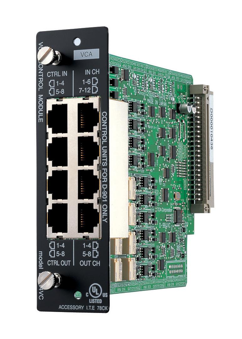 TOA D-984VC VCA Control Module for D-901 Digital Mixer