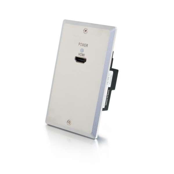 C2G 29223 TruLink Single Gang HDMI over Cat5 WallPlate Transmitter - Aluminum