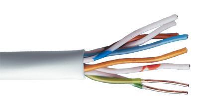 Liberty 24-4P-P-L6-EN-WHT CAT6 550MHz 23AWG 4 Pair CMP UTP Cable, White