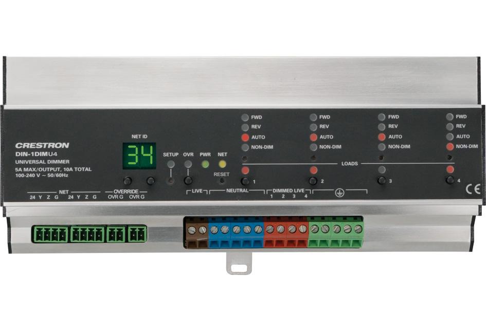 Product Crestron Din 1dimu4 Din Rail Universal Dimmer