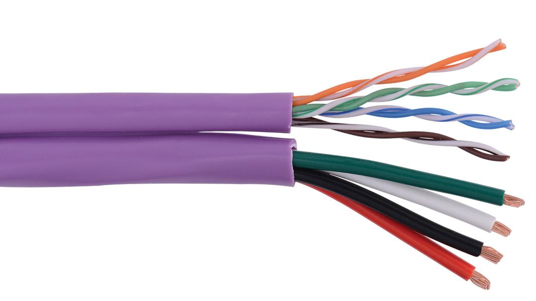 Liberty AUDIOCAT-SIAMESE Keypad Zip 16/4, L5E CMG Speaker Cable, Purple