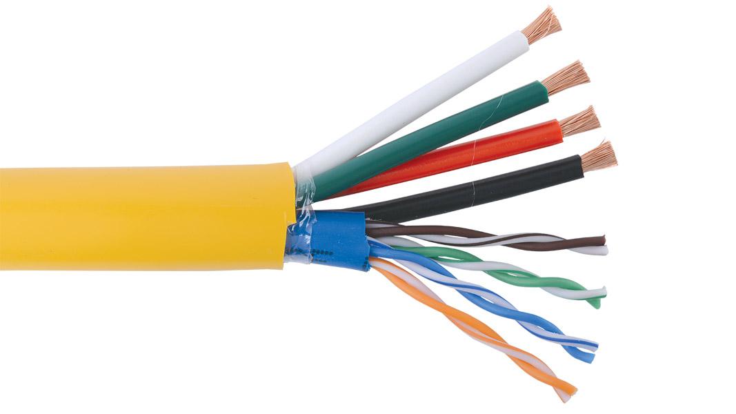Liberty AUDIOCAT+ Keypad 16/4 OFC+L5E CMG Speaker cable, Yellow