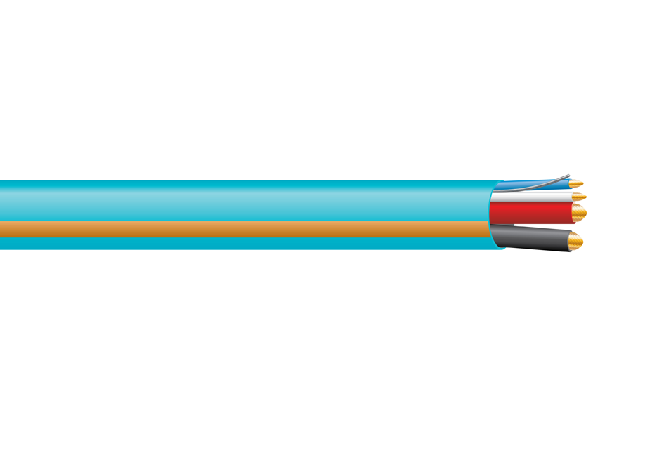 Cresnet -in.High-Power-in. Control Cable, non-plenum, teal, 1000 ft spool