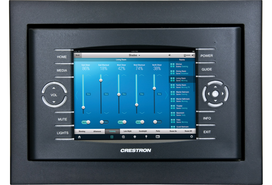Crestron TST-600-WALL-B-S 5.7in Wall Mount Wireless Touch Screen, Blk Smooth