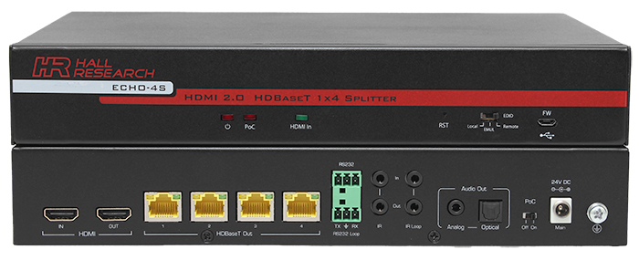 Hall ECHO-4S 4 Channel HDBaseT™ Splitter (Sender)