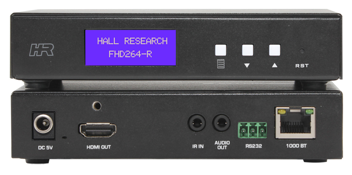 Hall AV & control over IP Receiver w/ Extracted Audio, RS232 over IP & IR