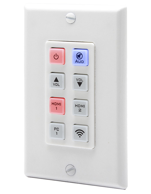 Hall UI-IP8-DP Programmable 8-button IP Keypad Wall Plate with PoE