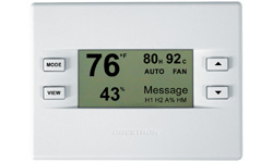 Heating, Cooling and Relative Humidity Thermostat, White Faceplate