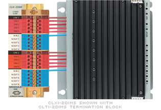 Crestron CLXI-2DIM8 8-channel 230V Dimmer, 2 Feeds