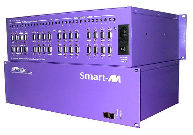 SmartAVI CSWP16X16S CAT5 Audio/Video/IR & R232 16x16 Matrix,RS-232 Control