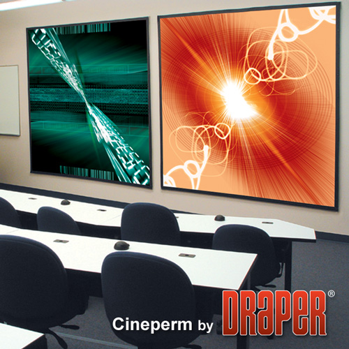 Draper 250005 Cineperm Fixed Projection Screen 72in x 96in