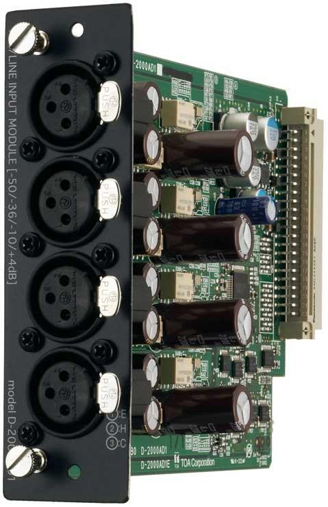 TOA D-2000AD1 Mic/Line Input Module, XLR-F Connector