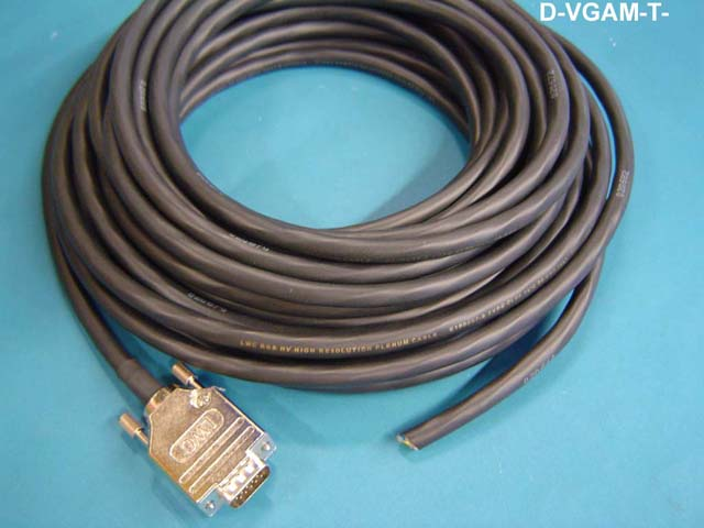 Liberty D-VGAM-T-75 75ft Non-ID/DDC VGA Male-Open Plenum Video Cable, Black