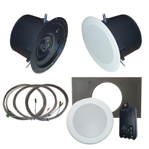 AMK Innovations, Inc. PSA615-EDU Self Amplified Ceiling Speaker Kit