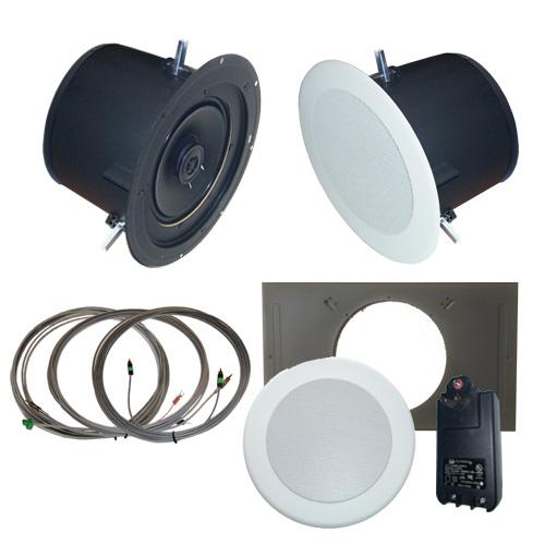 AMK Innovations, Inc. PSA802-EDU Self Amplified Ceiling Speaker Kit