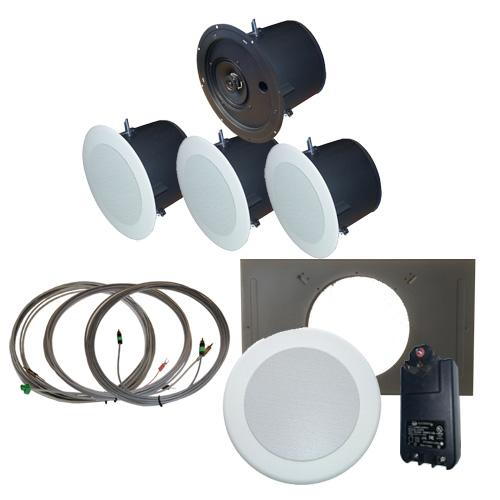 AMK Innovations, Inc. QSA615-EDU Self Amplified Ceiling Speaker Kit