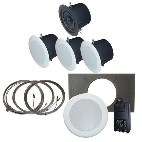 AMK Innovations, Inc. QSA802-EDU Self Amplified Ceiling Speaker Kit