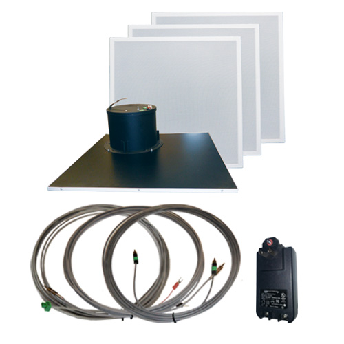 AMK Innovations, Inc. QT802-EDU Self Amplified Ceiling Speaker Kit