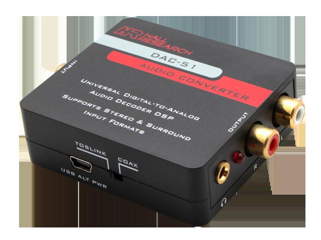 Hall DAC-51 Universal Digital to Analog Audio Decoder - Stereo & Surround