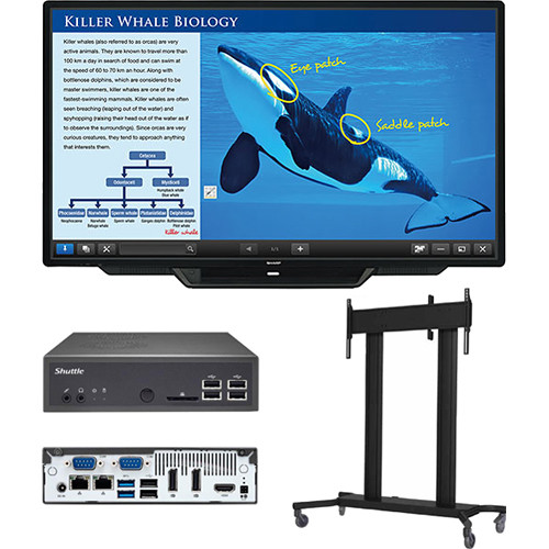 Sharp PN-L803C-PKG1 Sharp PN-L803C 80in AQUOS BOARD Display, PC & Floor Stand