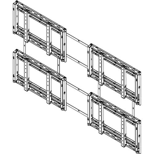 Sharp PN-PW220 Sharp PNPW440 2x2 Video Wall Mounting System (Landscape)