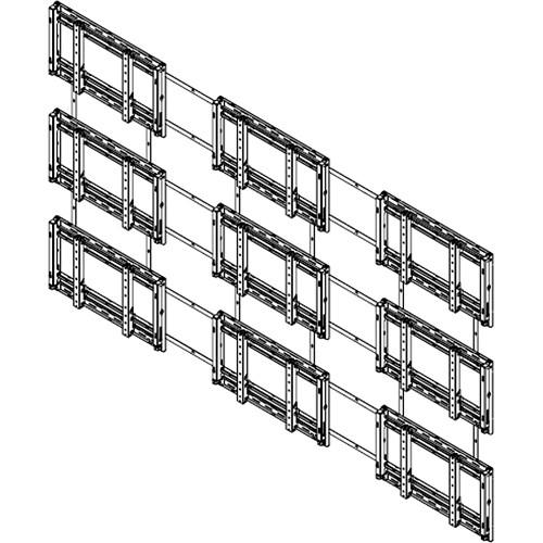 Sharp PN-PW330 Sharp PNPW440 3x3 Video Wall Mounting System (Landscape)